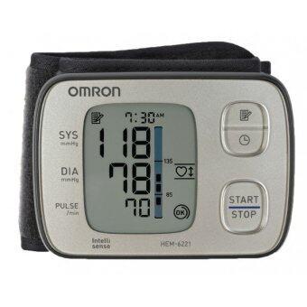 Omron เครื่องวัดความดันโลหิตข้อมือ HEM-6221 (เสียงเงียบมาก) ของแท้ รับประกันศูนย์ omron