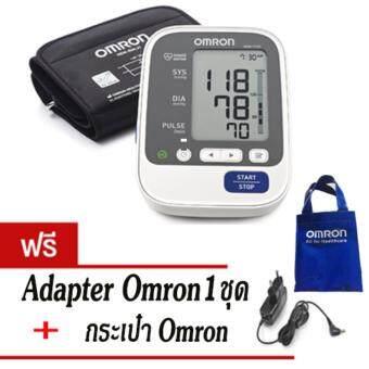 Omron เครื่องวัดความดันโลหิต รุ่น HEM-7130 (แถมฟรี Omron Adapter และ กระเป๋า)