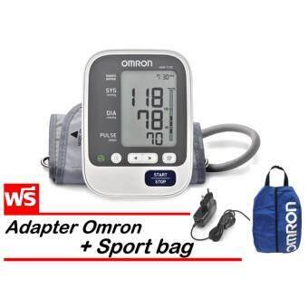 Omron เครื่องวัดความดันโลหิต รุ่น HEM-7130 (แถมฟรี Omron Adapter และ Sport bag)
