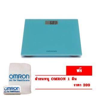 Omron เครื่องชั่งน้ำหนักดิจิตอล HN-289 ( โอเชี่ยนบลู )+ผ้าขนหนู
