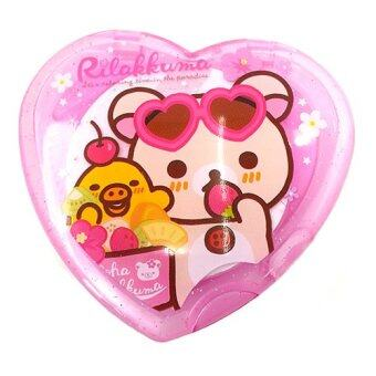 Rilakkuma Heart Comb and Mirror Set (Purple)