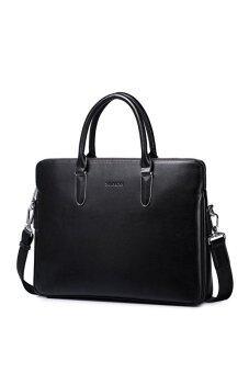 Sammons 190256-01 Genuine Cowhide Leather Briefcase//Tote Bag Black