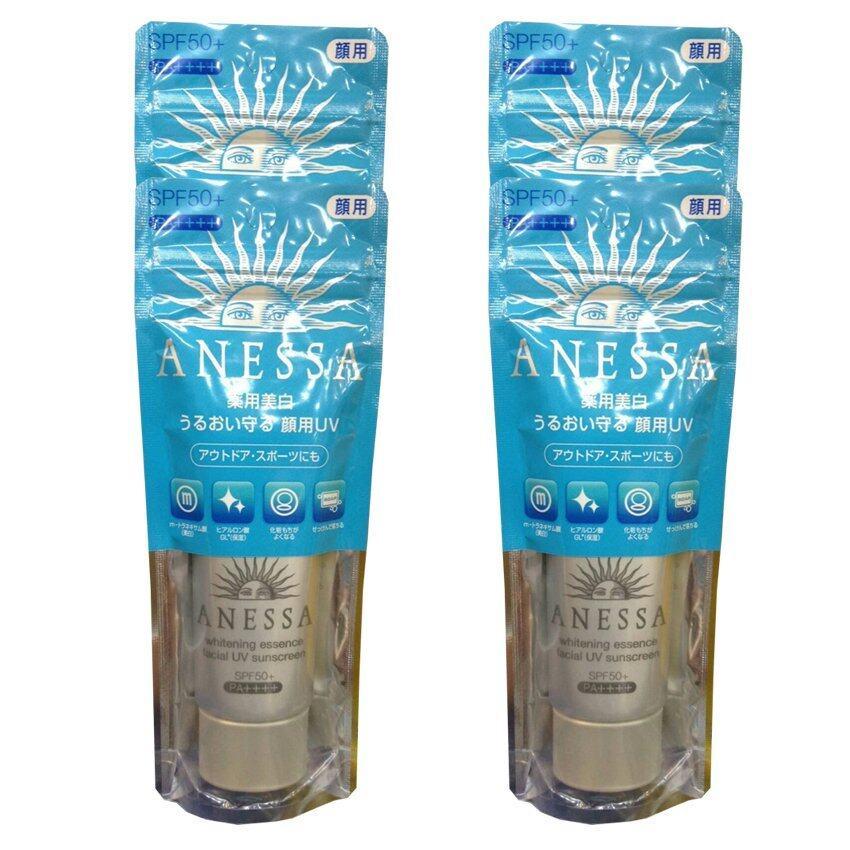 Shiseido anessa medicated whitening essence facial uv spf50+ pa+++ เหมาะกับการออกกำลังกายการแจ้ง และในน้ำ 40g (4 หลอด)