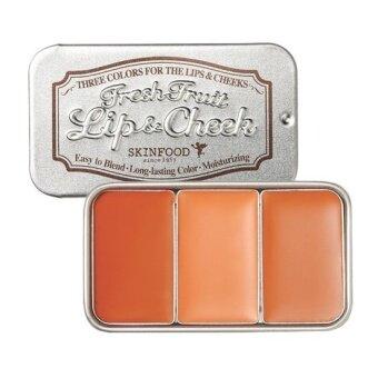 SkinFood Fresh Fruit Lip  Cheek Trio 7.5g # 6 Plum
