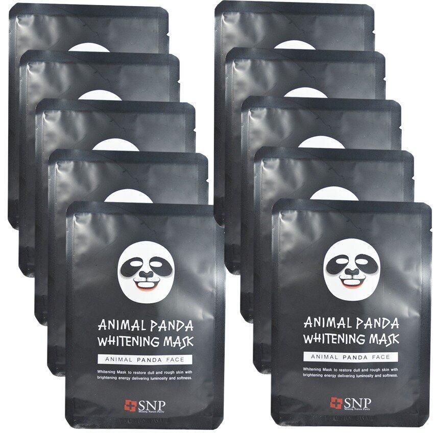 SNP Animal Panda Whitening Mask แผ่นมาส์คหน้ารูปสัตว์ (10 แผ่น)