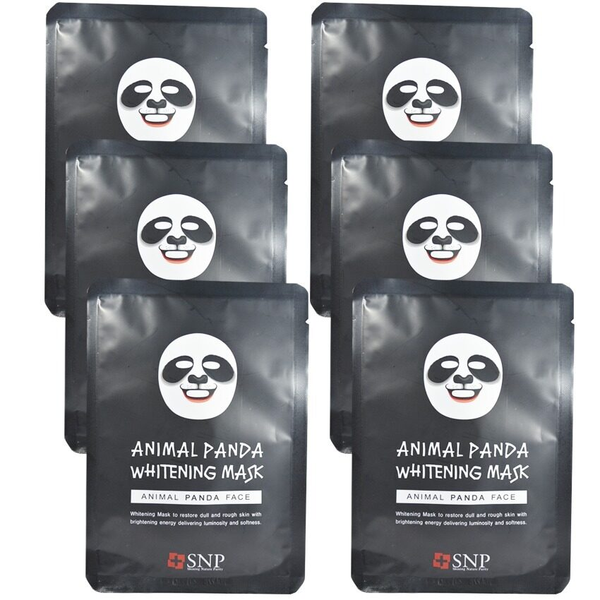 SNP Animal Panda Whitening Mask แผ่นมาส์คหน้ารูปสัตว์ (6 แผ่น) ...