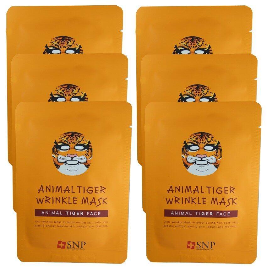 SNP Animal Tiger Wrinkle Mask แผ่นมาส์คหน้ารูปสัตว์ (6 แผ่น) ...