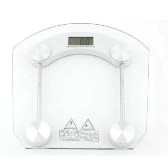 Tmall Sector electronic scale Electronic weight scaleเครื่องชั่งน้ำหนักดิจิตอล กระจกใส รุ่น (white)