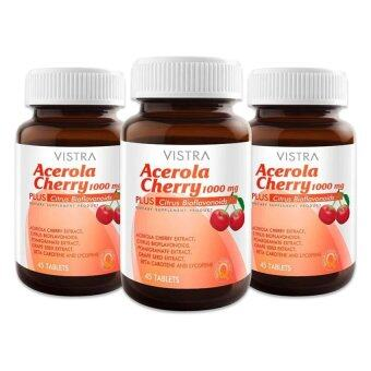 Vistra Acerola Cherry 1,000 mg. (60 x 3ขวด)