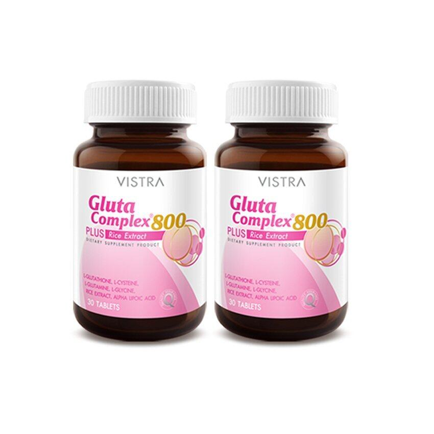 VISTRA Gluta Complex 800 Rice Extract (30Tablets) แพ็คคู่ ...
