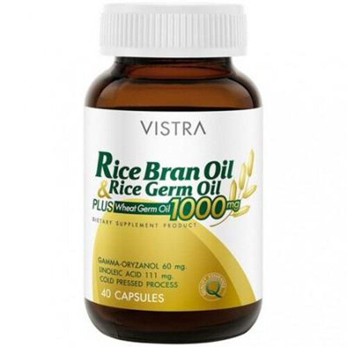 VISTRA Rice Bran Oil & Germ Oil น้ำมันรำข้าว และน้ำมันจมูกข้าว อุดมด้วยสารอาหารนานาชนิด  ...