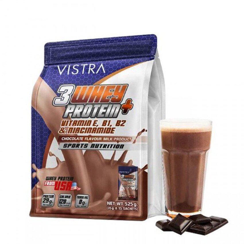 VISTRA Sport 3 Whey Protein+ เสริมสร้างกล้ามเนื้อกลิ่นช๊อกโกแลต 525g ...