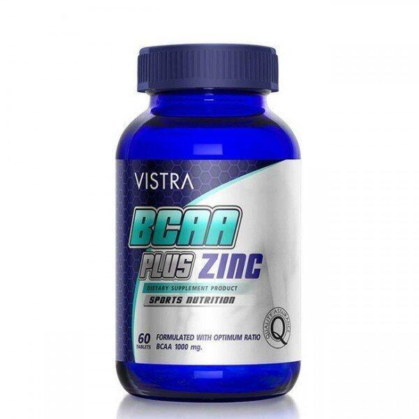 VISTRA Sport BCAA Plus Zinc ฟื้นฟูและเสริมประสิทธิภาพ 60 เม็ด ...