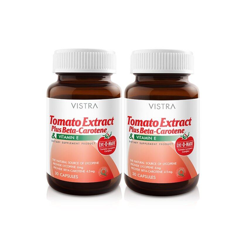 VISTRA Tomato Extract Plus Beta-Carotene (30 Caps) แพ็คคู่