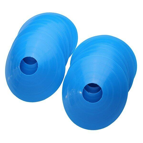 100 pcs Soccer Train Speed Disc Cone Football Cross Training Roadblocks Blue - intl