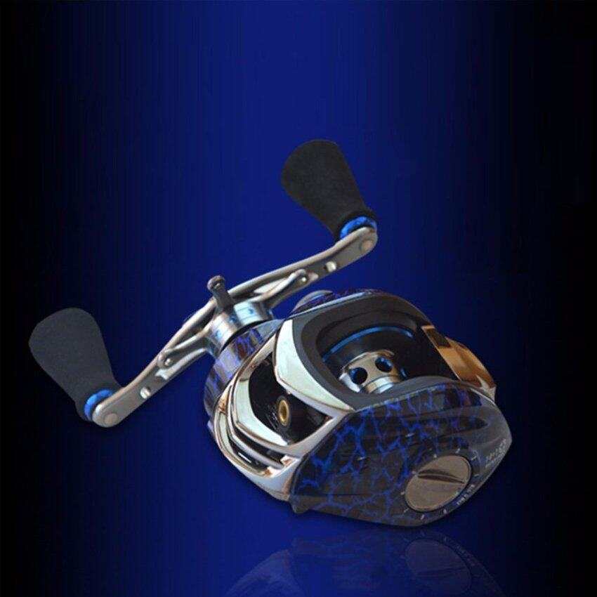 15BB Droplets Round Bearings Fly Reel Spinning Reel Rod Fishing Casting Rod Right Handle Wheel Blue