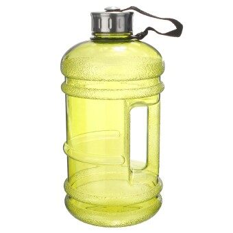 2 PCS 2.2 Liter (Half Gallon) 64oz BPA-Free Large Training Gym Water Bottle Handle Yellow