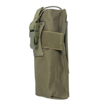 2 PCS Outdoor Airsoft Tactical Military Molle Radio Walkie Talkie Pouch Bottle Bag New Color Green