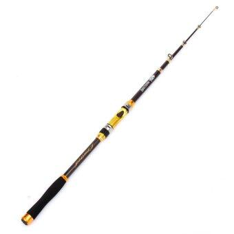 2.4M Carbon fiber Portable Ultralight Travel Telescopic Fishing Rod Sea Spinning Pole - intl