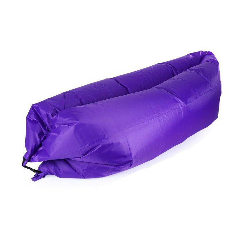 air sleeping bag โซฟาเป่าลม ที่นอนเป่าลม ที่นอนพกพา-สีม่วง