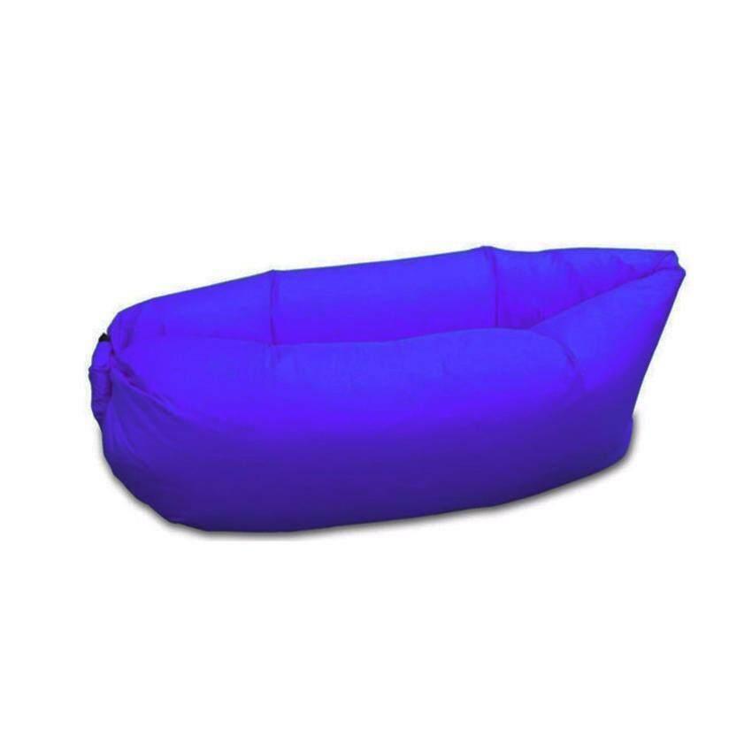Air Sleeping Bag โซฟาเป่าลม ที่นอนเป่าลม ที่นอนพกพา สีน้ำเงิน