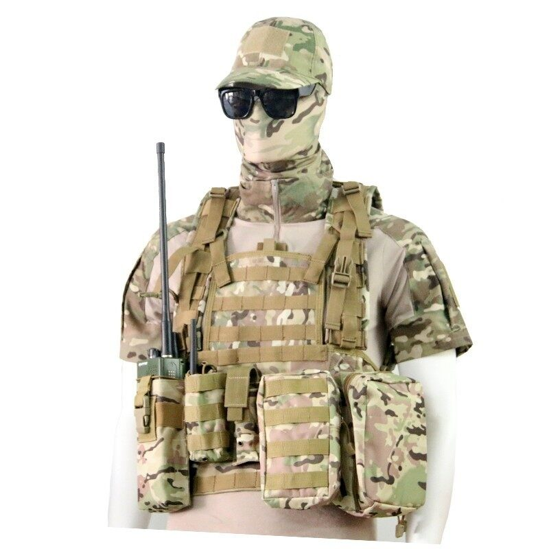 Airsoft Painball Military Army Combat Gear MOLLE Tactical Vest - intl