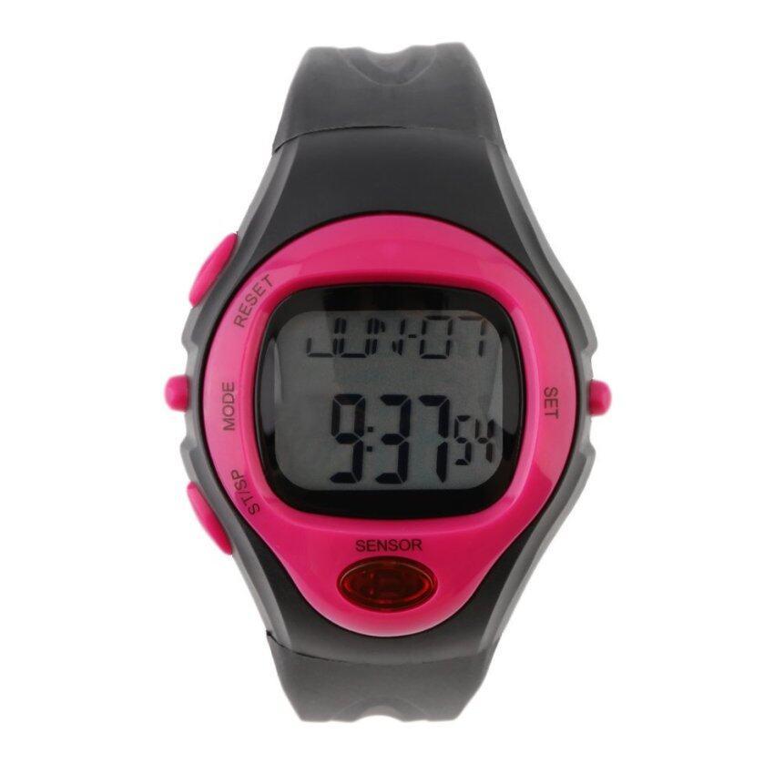 แนะนำ Allwin Infrared Digital HeartRate Monitor Watch Pulse Meter SportCalorie Tester Red ลดราคา