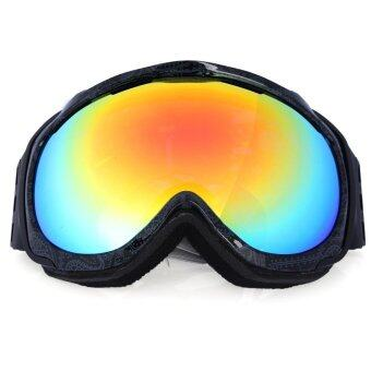 Anti-fog Double Lens Outdoor Winter Snowboard Eyewear Snow Ski Goggle Glasses Black - intl