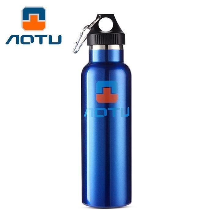 Aotu 600Ml Double Layer Stainless Steel Thermal Vacuum Insulation Water Bottle(Bluepurple) - intl
