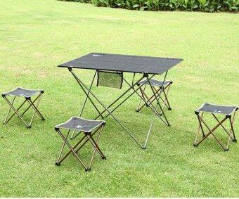Aotu Outdoor Folding Fold Aluminum Chair Stool Seat Fishing Camping- intl