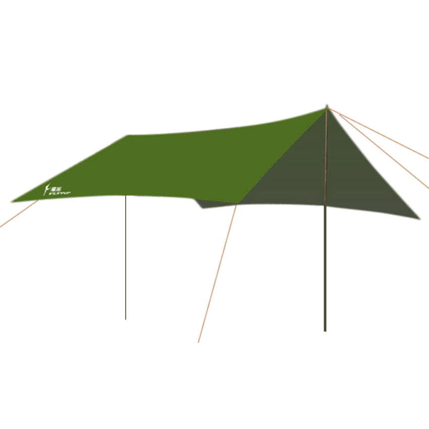 BolehDeals Waterproof Outdoor Camping Awning Trail Tent Cover Shelter Army Green