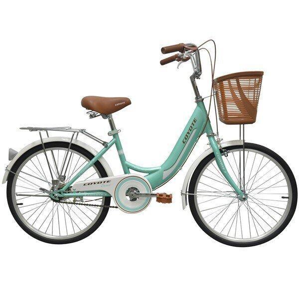 จักรยานCOYOTE จักรยานแม่บ้าน ขนาด 24 นิ้ว รุ่น AMMA (สีเขียวอ่อน)