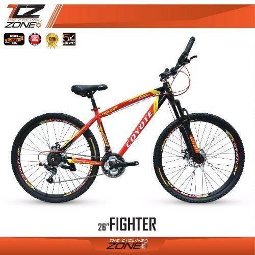 aaa COYOTE จักรยานเสือภูเขา 27.5 นิ้ว / เกียร์ SHIMANO 21 สปีด / รุ่นFIGHTER (สีดำ/แดง) Sbobet