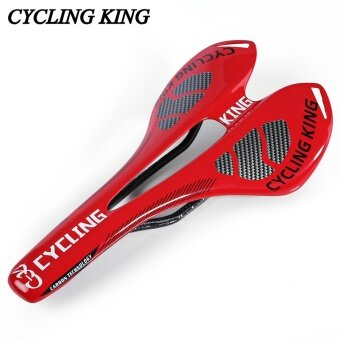 Cycling King MTB Bicycle Bike Durable 3K Full Carbon Seat Saddle(Red) - intl