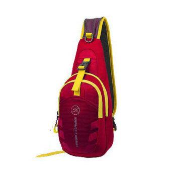 กระเป๋าสะพายไหล่กันน้ำ กระเป๋าคาดอก รุ่น D02 (สีแดงเลือดหมู)