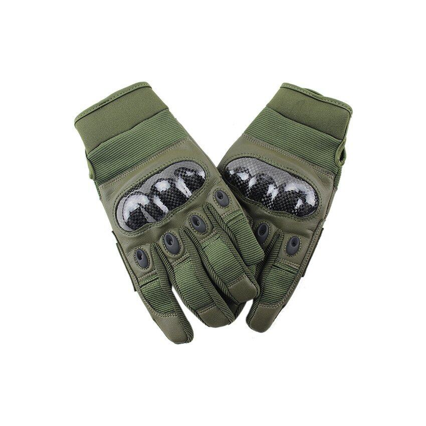 DHS Hang-Qiao Full Finger Riding Gloves Cycling Motorcycle Sports Outdoor (Army Green)