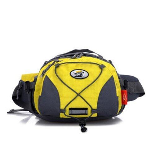Fashion Outdoor Waist Packs Men and Women Running Pockets Multi-purpose Travel Pockets Shoulder Bag (Yellow) - intl