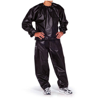 Fitness Loss Weight Sweat Suit Sauna Suit Exercise Gym Size L Black ...