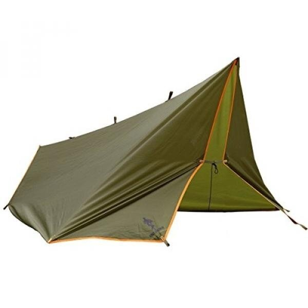FREE SOLDIER Waterproof Portable Tarp Multifunctional Outdoor Camping Traveling Rain Fly Awning Backpacking Tarp shelter Rain Tarp (Brown) - intl