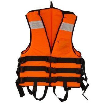 Grand Adventure เสื้อชูชีพ ขยายด้านข้าง สีส้ม มีแถบสะท้อนแสง