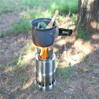 Hanyu Portable Folding Stainless Steel Lightweight Wood StoveOutdoor Cooking Picnic Camping Burner - intl