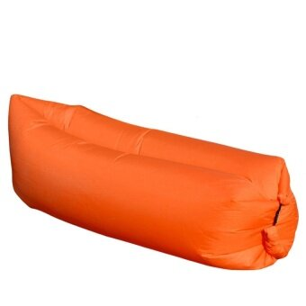 Inflatable Sleeping Bag Lazy Air Sofa Bed Camping Hangout LoungeBeach New Orange - intl