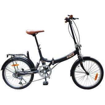 K-POP จักรยานพับ 20นิ้ว 3 Speed รุ่น KP-2003YST-BK/BR (สีดำ/น้ำตาล)