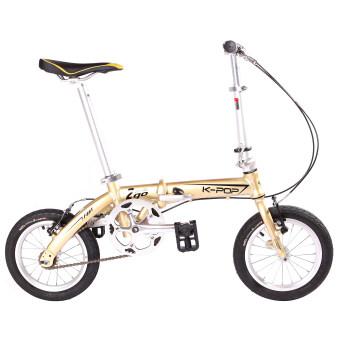 K-POP KP-2GO-CPจักรยานพับ14นิ้ว (สีทอง/โครเมี่ยม)