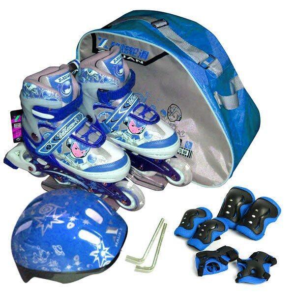 Kid Set Pro รองเท้าสเก็ต สำหรับคุณหนู ไซด์ 34-37M (สีน้ำเงิน)