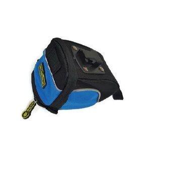 Lotte Bike Bag กระเป๋าติดใต้อาน/เฟรม จักรยาน ล็อคแน่น ไม่หลุด (Black/Blue)