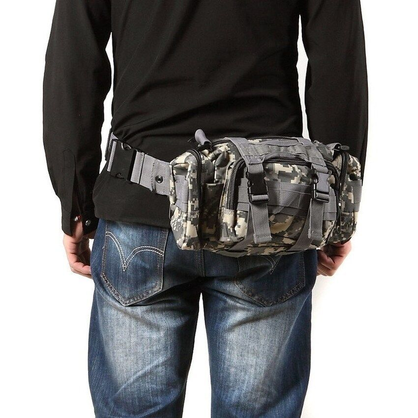 Lucky R1B1 Outdoor Military Tactical Waist Pack Molle Camping Hiking Pouch Bag -CPCamo - intl