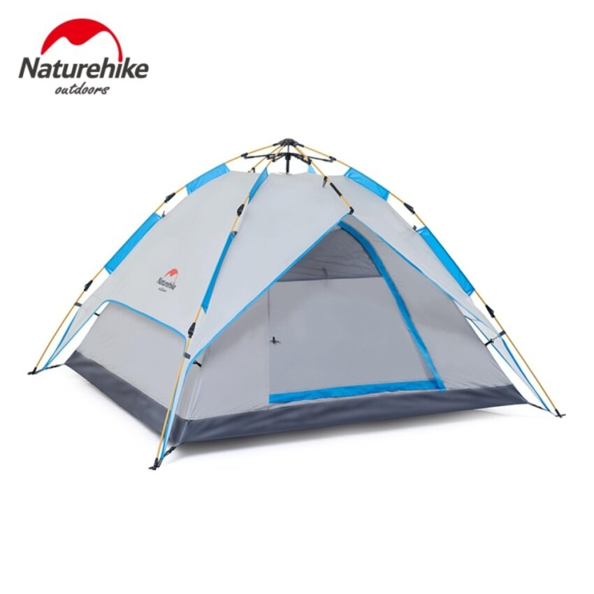 Naturehike Quick Automatic Opening 3-4 Person Camping Tent Outdoor Double FRP Waterproof Hiking Tent Four Season Family Tent - intl
