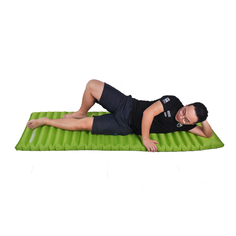 NH Innovative Soft Sleeping Pad Fast Filling Air Bag Super Light Inflatable Portable Mattress Rescue Life Cusion 186*60*8.5cm 550g - Green