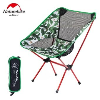 NH Outdoor Folding Portable Director Chair Ultra-light Moon Leisure Sketch Fishing Chair army Green - intl